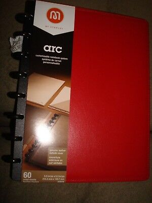 M By Staples Arc Customiazable Notebook System 20874 Red