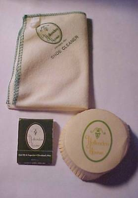 Vintage - HOLLENDEN HOUSE HOTEL-Cleveland,Oh-Shoe Cleanesr-Glass Cover & Matches