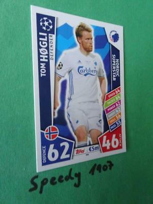 Topps Champions League 2017 2018 limited Edition NORDIC SUPERSTAR Hogli