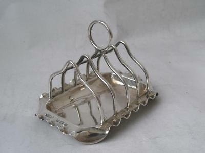 Unusual Dainty Antique Solid Sterling Silver 5-Bar Toast Rack 1900/ L 7.6 cm