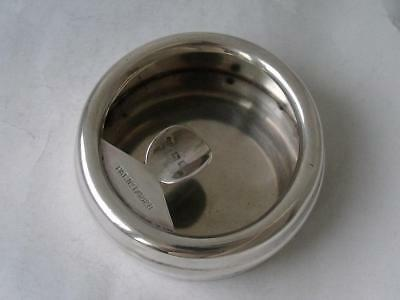 Unusual Good Quality Solid Sterling Silver Ash Tray 1922/ Dia 7.5 cm/ 94 g