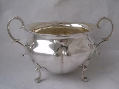 Good Large Solid Sterling Silver Sugar Bowl 1922/ L 18 cm/ 262 g
