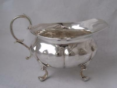 Well-Made Solid Sterling Silver Cream Jug 1922/ L 14.2 cm/ 175 g