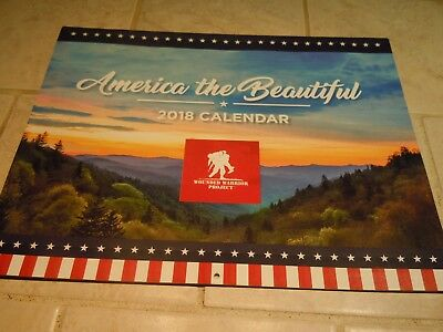 2018 Wall Calendar- Wounded Warrior Project- America The Beautiful