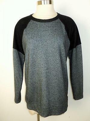 LOU & GREY Anthropologie Size M Knit Sweatshirt Style Exposed Back Zipper Top M