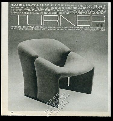 1977 Pierre Paulin modern chair photo Turner LTD furniture NYC vintage print ad