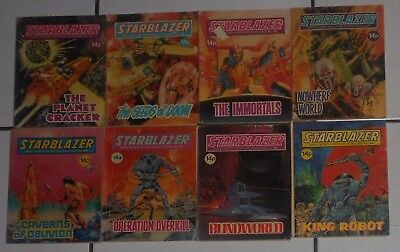 LOT OF 8 STARBLAZER SCI-FI COMICS , EARLY  14 p ISSUES ,