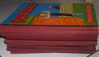 10  Oor Wullie Annuals 1978 To  2000, Vg Condition .