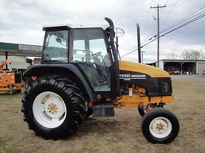 New Holland Ts 100  2 Wheel Drive Cab Tractor With Shuttle