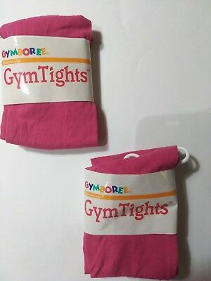 Lot of 2 Gymboree Girls Pink Gym Tights NWT Med/Large $16.00
