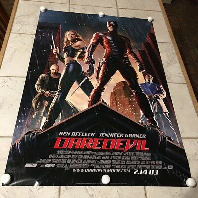 DareDevil ORIGINAL Double Sided MOVIE THEATRE POSTER 27X40 Ben Affleck J. Garner