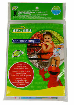 Sesame Street Shopper Topper Disposable Shopping Cart Cover 20 Ct