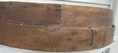 Antique Xlg Rustic Wood & Screen Grain Sifter, Old Nailed Overlapped Seams