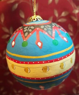 Vintage Ornament Paper Mache/decoupage Ornament Made In The Philippine