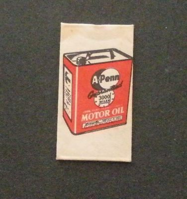 Vintage Made in USA Razor Blade A-PENN MOTOR OIL 3,000 MILE - Seldom Seen