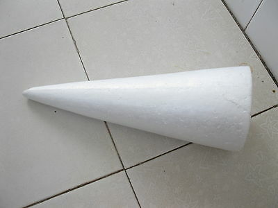 4X Styrofoam Foam Cones Decoration Craft DIY 35cm High