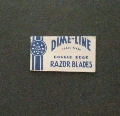 Vintage Made in USA Razor Blade DIME LINE