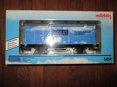 Marklin Maxi - 1 gauge - spur 1 - 5484 MAXI Closed Goods Wagon w Free ship!