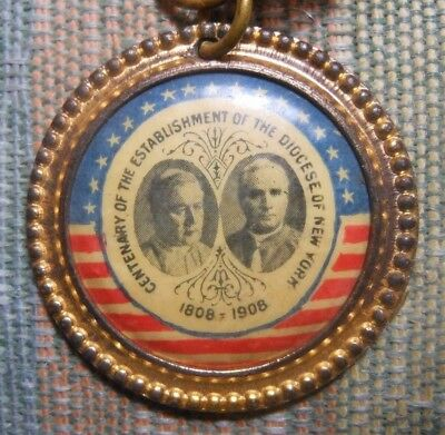1808-1908 Centenary Catholic Diocese of New York  Ferrotype Pin