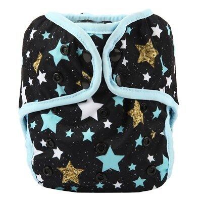 Baby Diaper Cover Nappy Cover Double Gussets Reusable One Size Stars