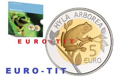 LUXEMBOURG   GRENOUILLE   RAINETTE  3000  EX     /  5  EURO     2017  disponible