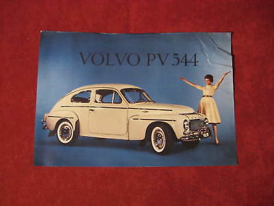 1960 Volvo  PV 544 dealer showroom Sales Brochure Booklet Catalog Old Original