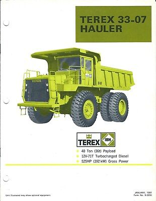 Equipment Brochure - Terex - 33-07 - Haul Truck Dump Off-Road - 1981 (E3879)