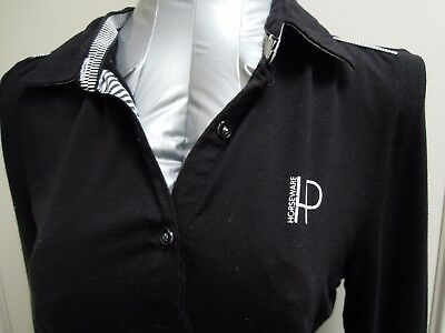 HORSEWARE PLATINUM  Black  Long Sleeved  Top   *Size SMALL