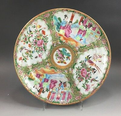 A large/fine Chinese 19C rose medallion plate-Guangxu