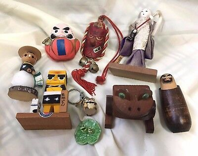 *JUNK DRAWER, A lot of Japanese vintage goods, Small dolls, Miniatures K111903
