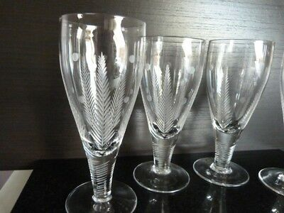 Stuart Crystal Cut Glasses X4,Lovely Design And Condition.