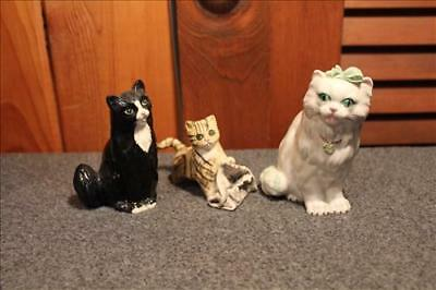 Vintage Royal Doulton Porcelain Cats & Irish Dresden Cat