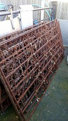 Antique hand made period wrought iron fence.