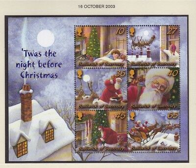 Guernsey 2003 T'was the Night Before Christmas..M/Sheet MNH