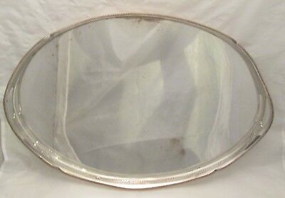 A Very Large Silver Plated Tray with Galleried Edge c1920