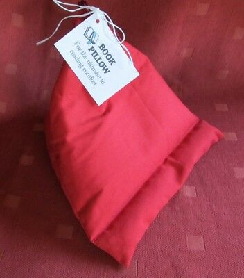 *BOOK PILLOW* ~Support~Rest~Hand made.iPad,Tablet.IDEAL GIFT RED