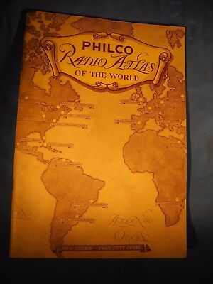 Philco 1935 Radio Atlas Of The World Color Maps * Short-Wave Stations Pictorial