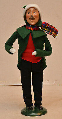 LIMITED EDITION 2000 Byers Choice CAROLERS Tradional Adult Man with Plaid Scarf