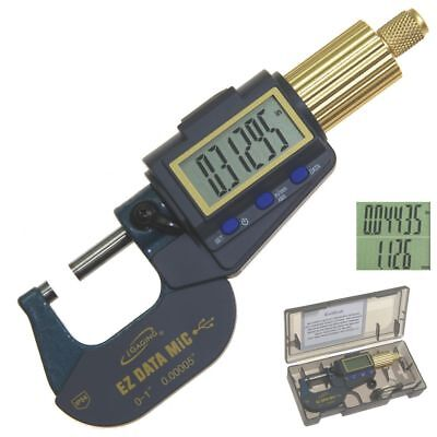 """Digital Micrometer Outside 0-1""""/0.00005"""" Electronic X-Large Display Data Connect"""