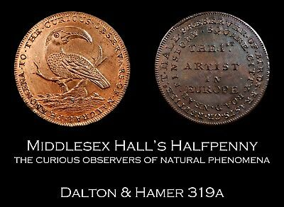 Middlesex Hall's Conder Halfpenny D&H 319a, super!