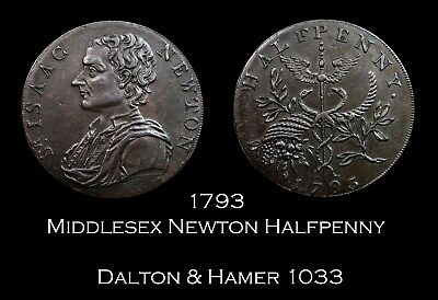 1793 Middlesex Newton Conder Halfpenny D&H 1033