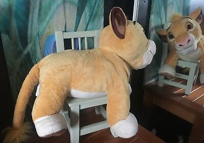 """DISNEY STORE LION KING SIMBA SOFT TOY YOUNG BABY LARGE 20""""- 35"""" long RARE VGC"""