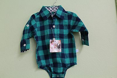 Rugged Butts Plaid Body Suit Long Sleeve