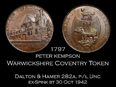 Warwickshire Kempson Coventry Conder Token D&H 282a, Unc | ex-Spink