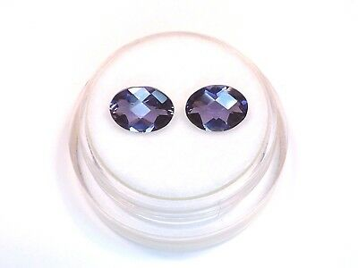 Sale Matched Pair of Charming Iolite from scrap gold silver vintage jewelry