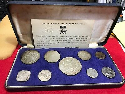 1966 Government of the Bahama's 9 Coin set