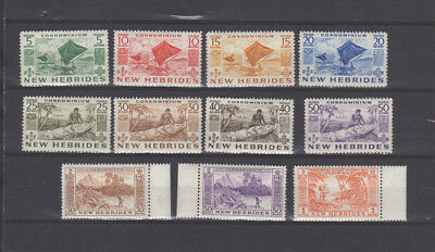 A very nice unused New Hebrides group of issues