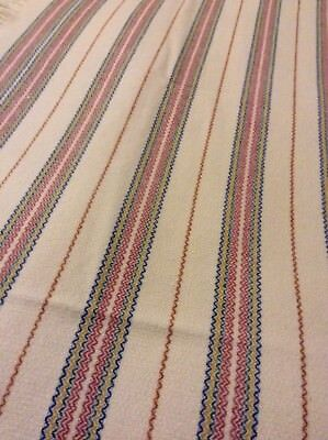 Traditional Stripped Welsh Wool Blanket Rare