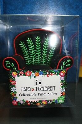 Mary Engelbreit Pincushion Chair Black Velvet New with Box with Tag 2001