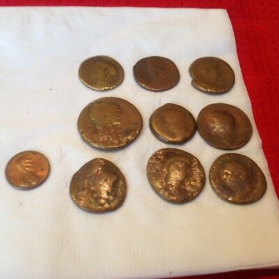 Authentic Bronze Roman coins low Lot.Metal detector finds SF5